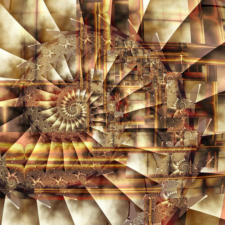 Square Digital Art - S-57 by Dennis Brady