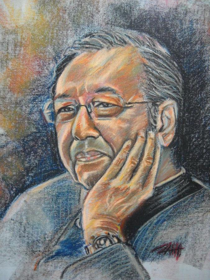 Portrait Painting - Sad But True  by Aizam Solihin