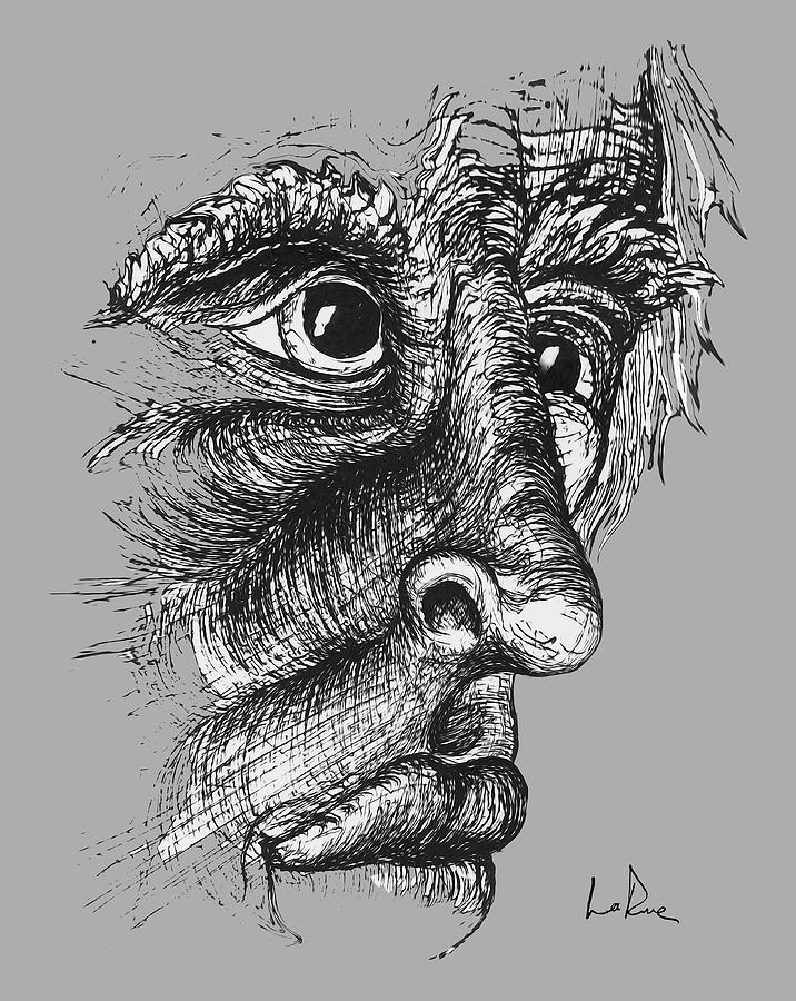 Sad Eyes Drawing By Doug Larue