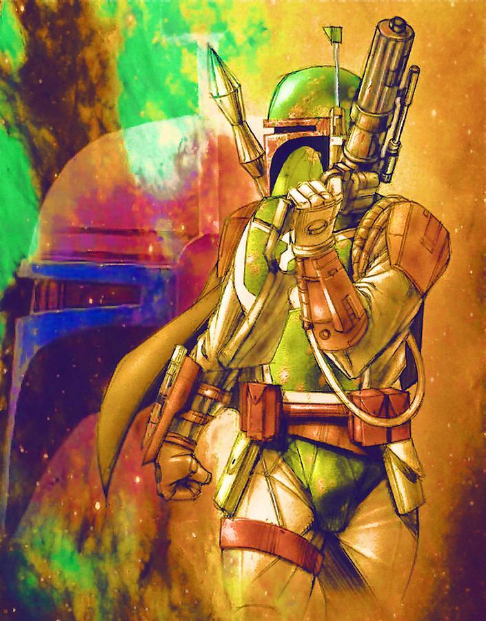 saga star wars art digital artlarry jones