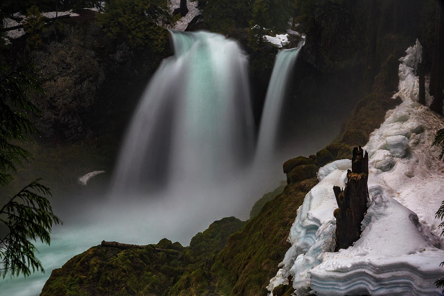 River Photograph - Sahalie Falls by Cat Connor