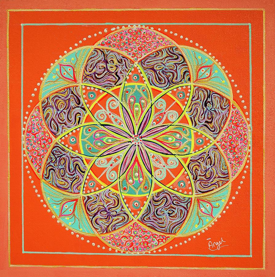 Sacred Geometry Painting - Sai Baba Is Love2 by Angel Fritz