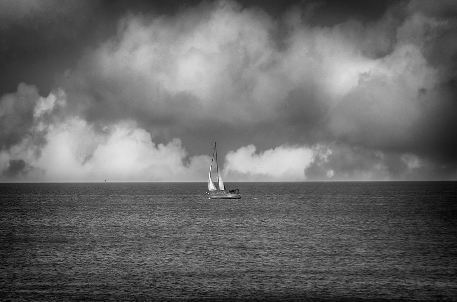 Sail Photograph - Sail Away by Judy Hall-Folde
