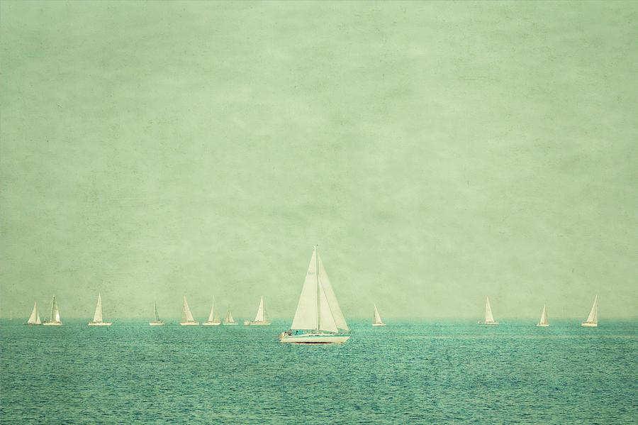 Amboy Photograph - Sailboats In Pastel by Erin Cadigan