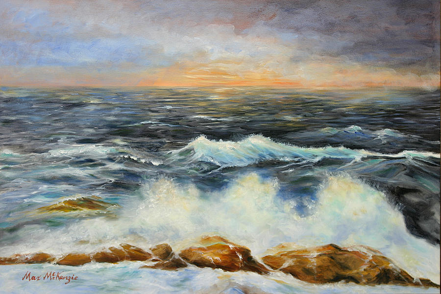 Pacific Ocean Painting - Sailors Warning by Max Mckenzie