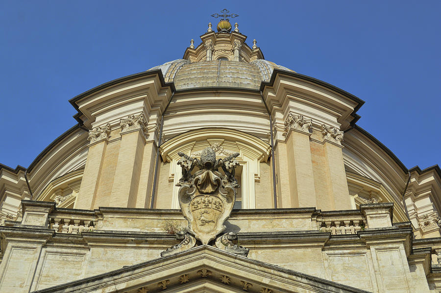 Italy Photograph - Saint Agnes Dome by JAMART Photography
