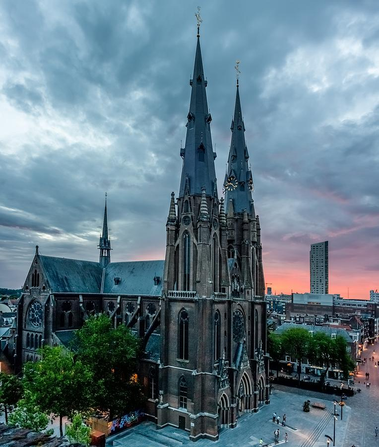 Christmas Photograph - Saint Catherina Church In Eindhoven by Semmick Photo