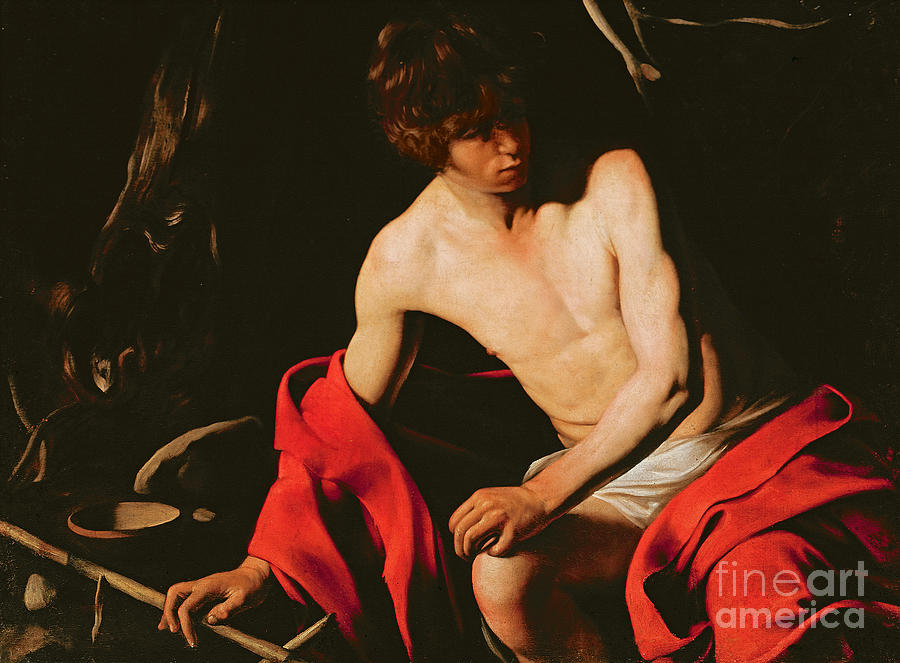Michelangelo Caravaggio Painting - Saint John The Baptist by Michelangelo Caravaggio