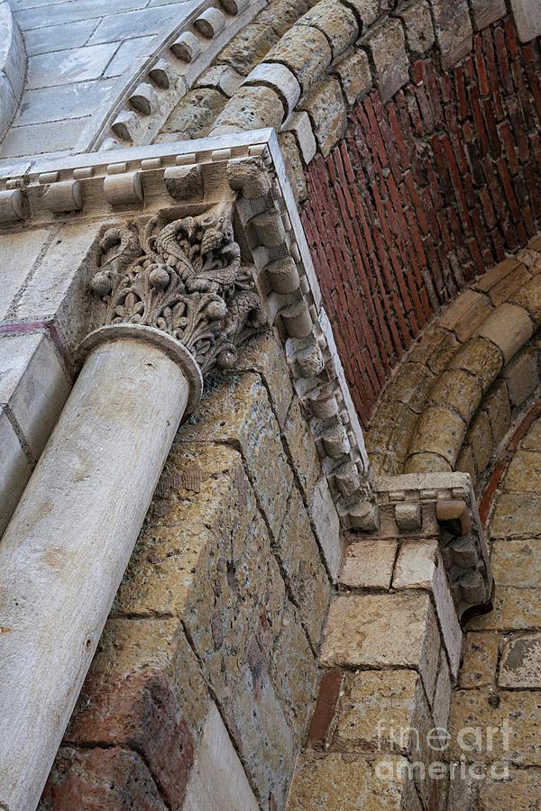 Architecture Photograph - Saint Sernin Basilica Architectural Detail 1 by Elena Elisseeva