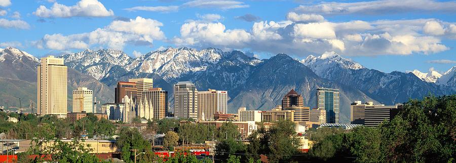 Salt Lake City Photograph - Salt Lake City Utah Skyline by Utah Images