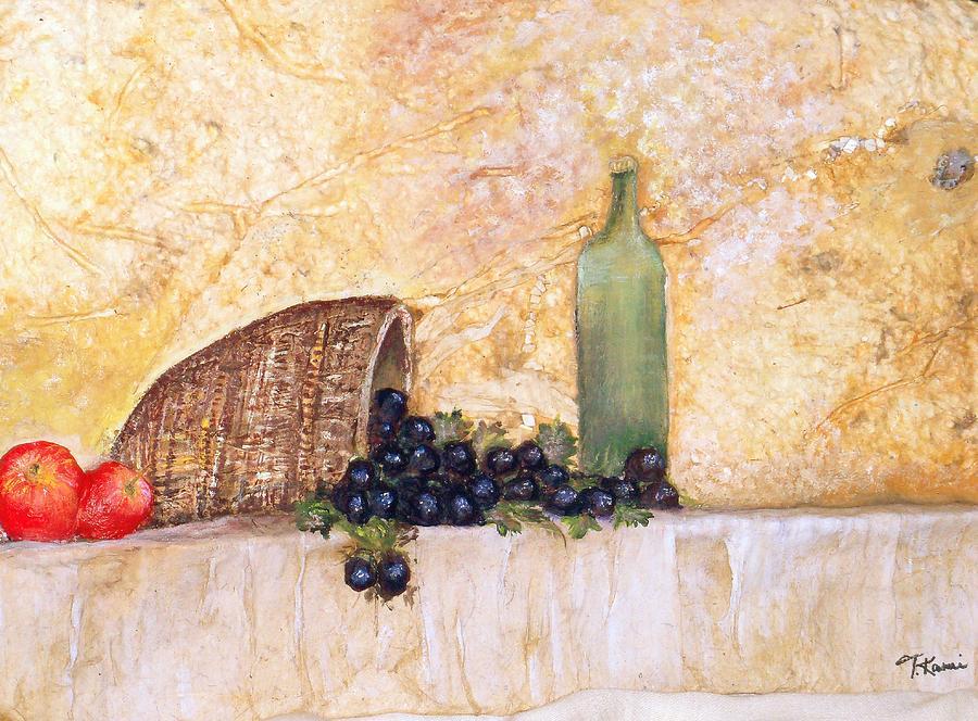 Tuscany Scene Painting - Salute by Tinsu Kasai