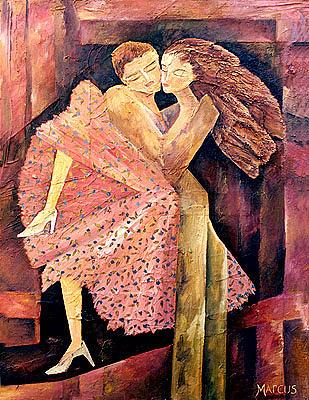 Samba 1 Painting by Leslie Marcus
