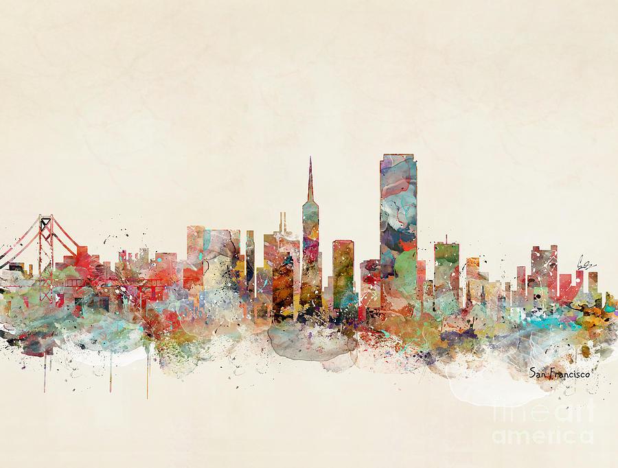 San Francisco Painting - San Francisco California by Bri Buckley