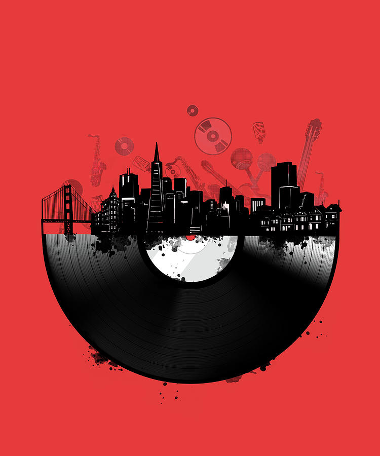 San Francisco Skyline Vinyl 3 Digital Art
