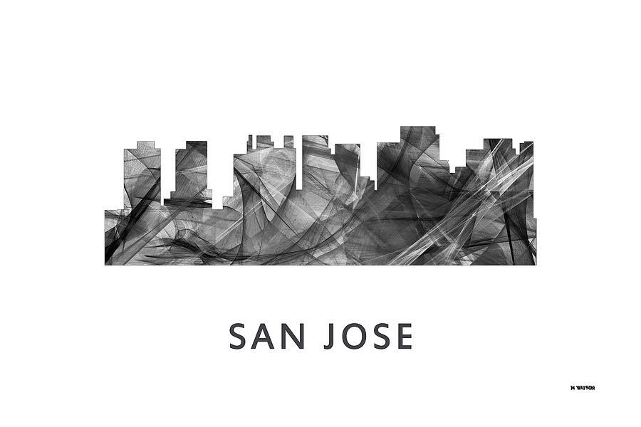 San Jose California Skyline Digital Art - San Jose California Skyline by Marlene Watson