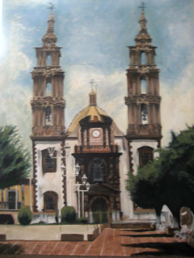 San Jose De Gracia Painting by Jessica  De la Torre