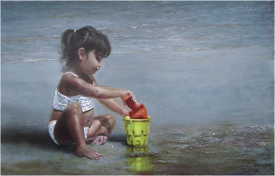 Long Island Painting - Sand Castles II by James Berger