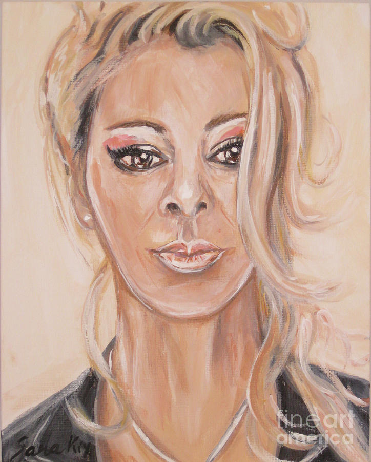 Sandra. Acrylic painting by Oksana Semenchenko