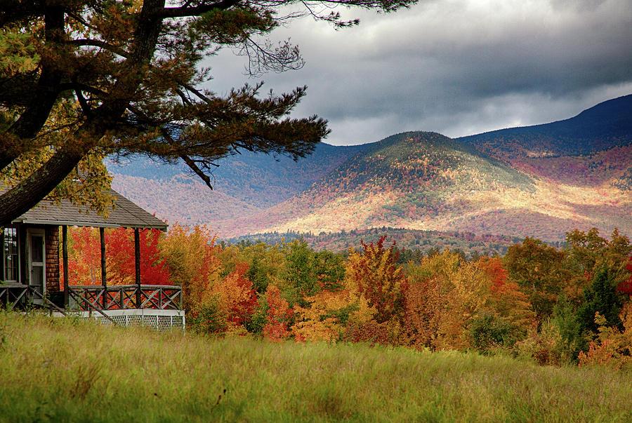 Fall Foliage Photograph - Sandwich Mountain Range by Jeff Folger