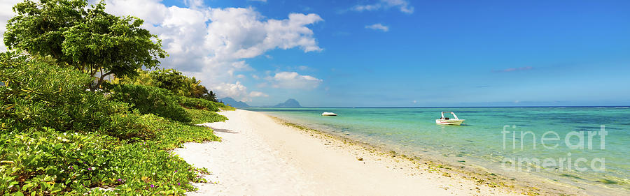 Sandy Tropical Beach. Panorama. Photograph