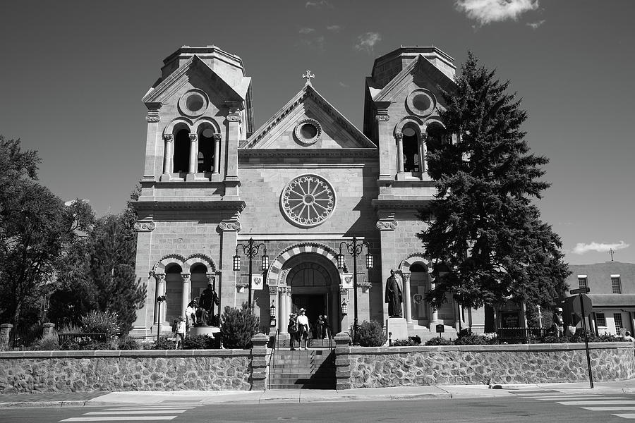 America Photograph - Santa Fe - Basilica Of St. Francis Of Assisi by Frank Romeo