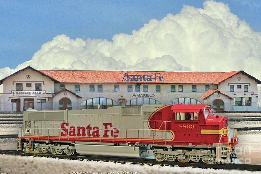 Santa Fe Depot In Amarillo Texas Photograph By Janette Boyd