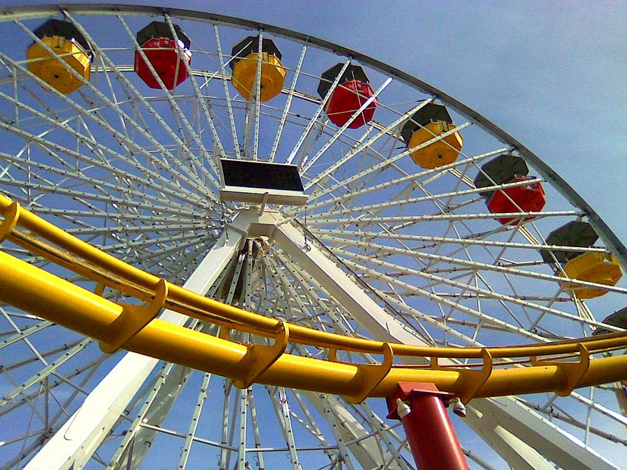 Santa Monica Pier Amusement Park by Kenny Glover