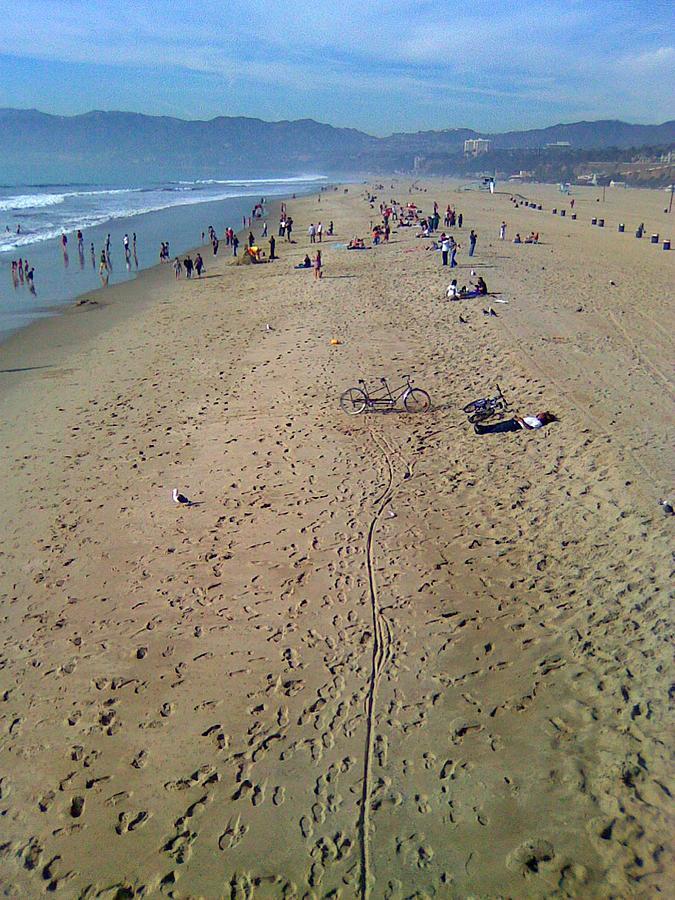 Santa Monica Pier Beach by Kenny Glover