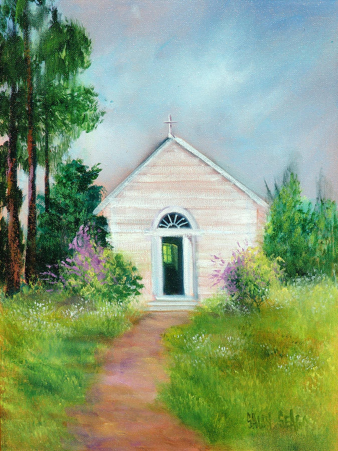 Church Painting - Santa Rosa Chapel by Sally Seago