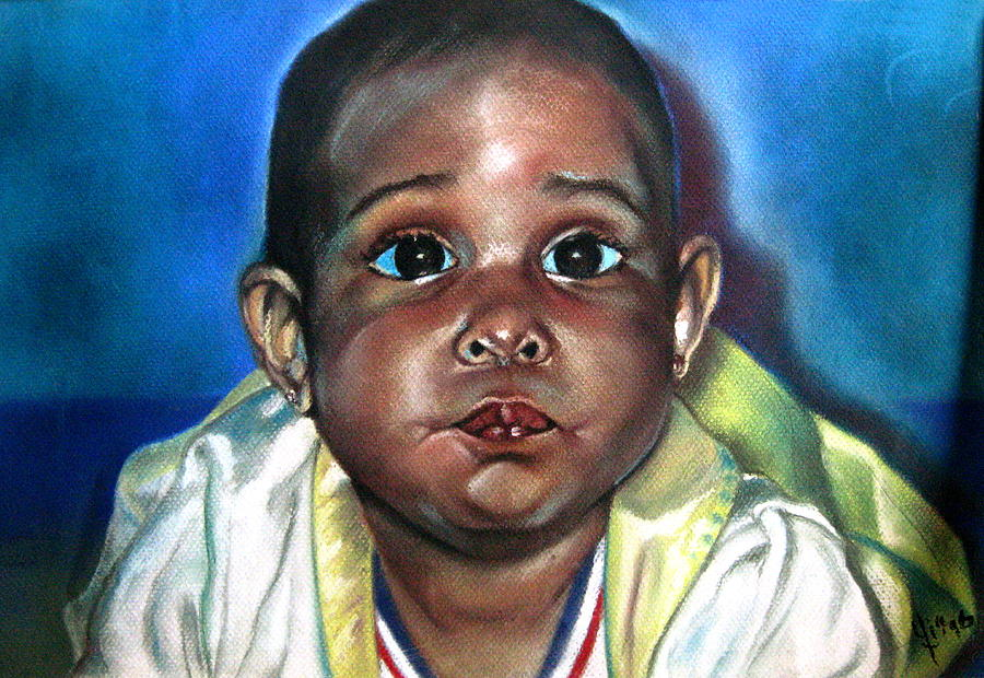 Baby Painting - Saoni by Yxia Olivares