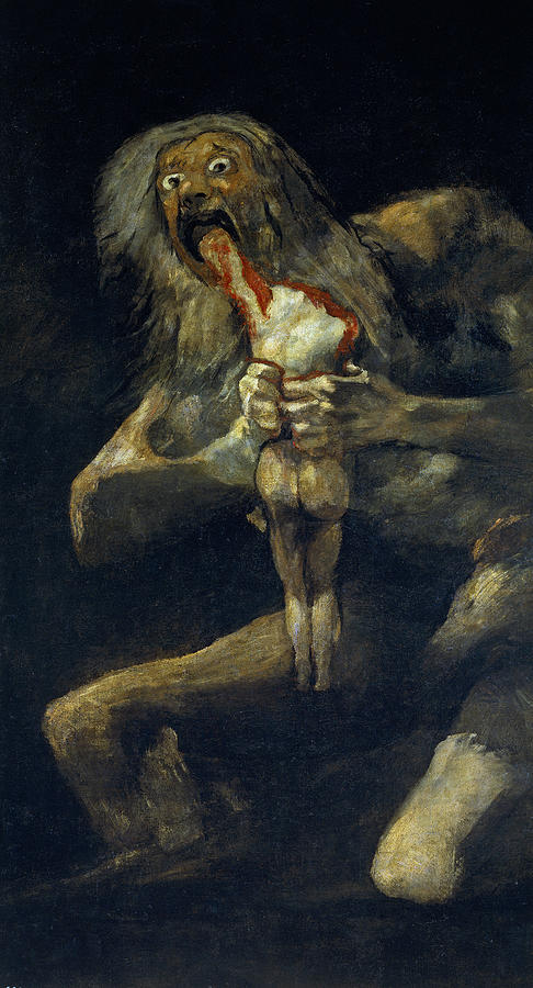 Francisco Goya Painting - Saturn Devouring His Son 1 by Francisco Goya