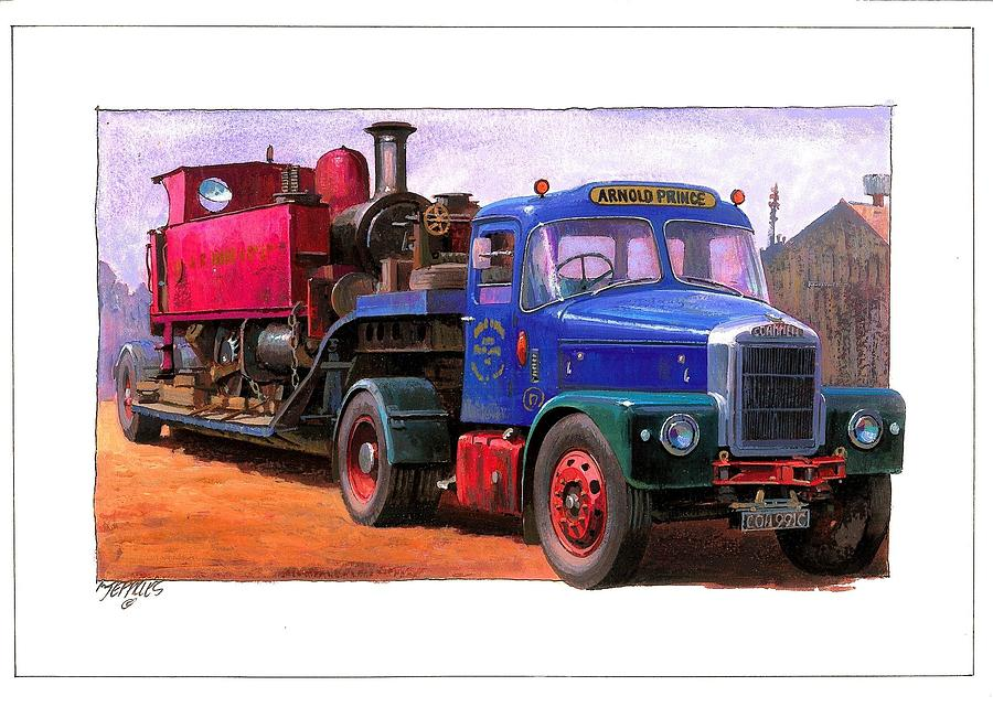Scammell Painting - Scammell Highwayman. by Mike  Jeffries