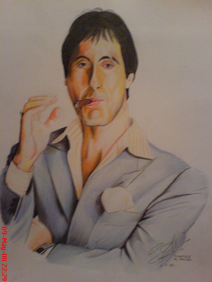 Tom Cruise Painting - Scarface by San Art Studio