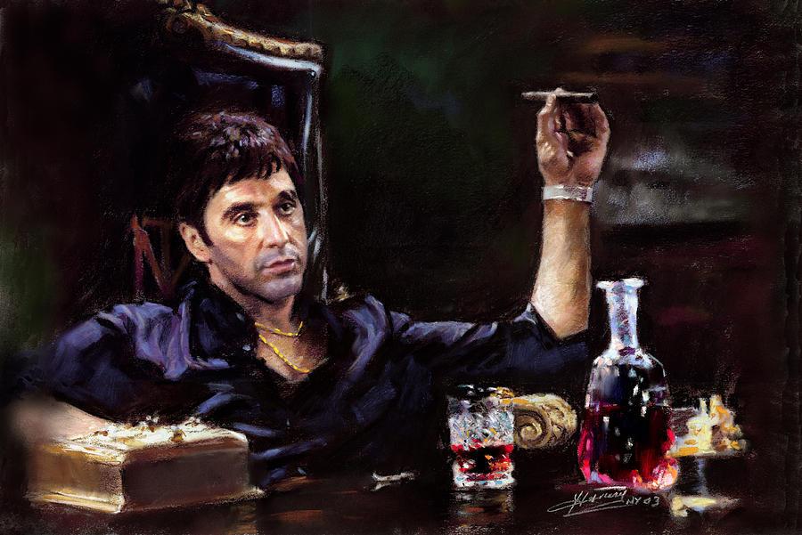Al Pacino Pastel - Scarface by Ylli Haruni