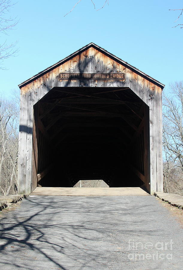Covered Bridge Photograph - Schofield Ford Covered Bridge by Ken Keener