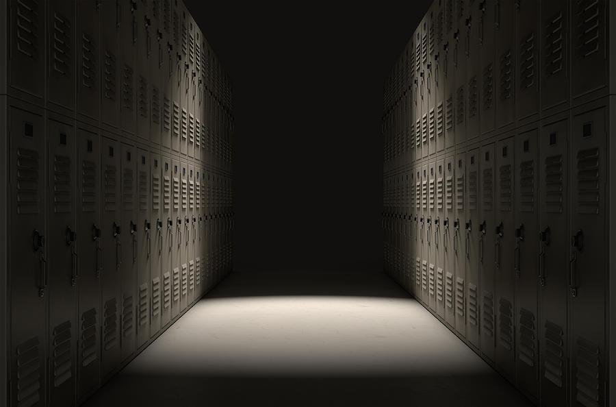 Locker Digital Art - School Locker Corridor by Allan Swart