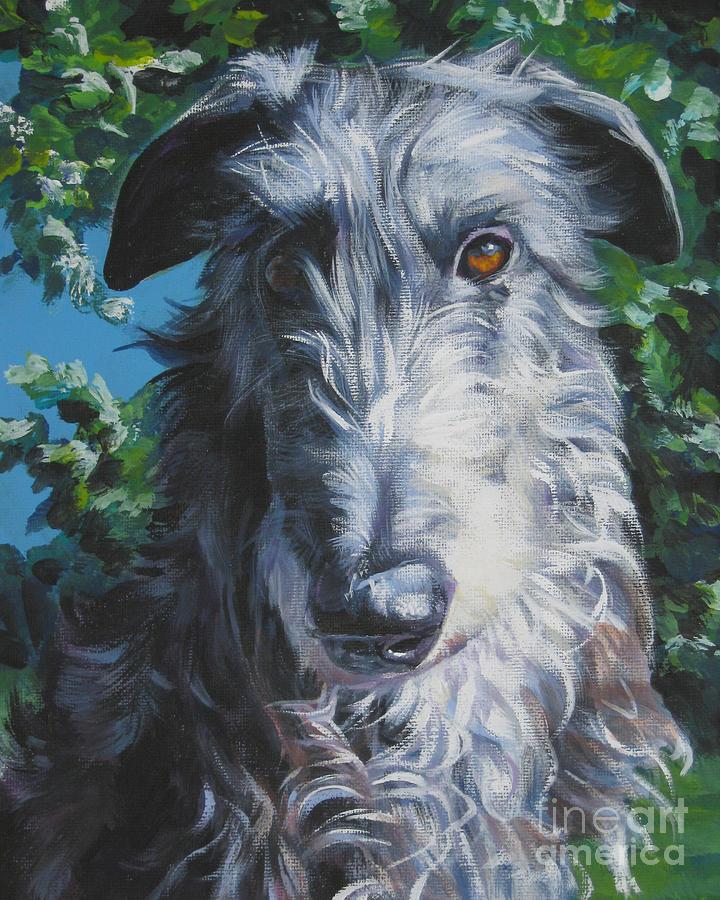 Scottish Deerhound Painting - Scottish Deerhound by Lee Ann Shepard