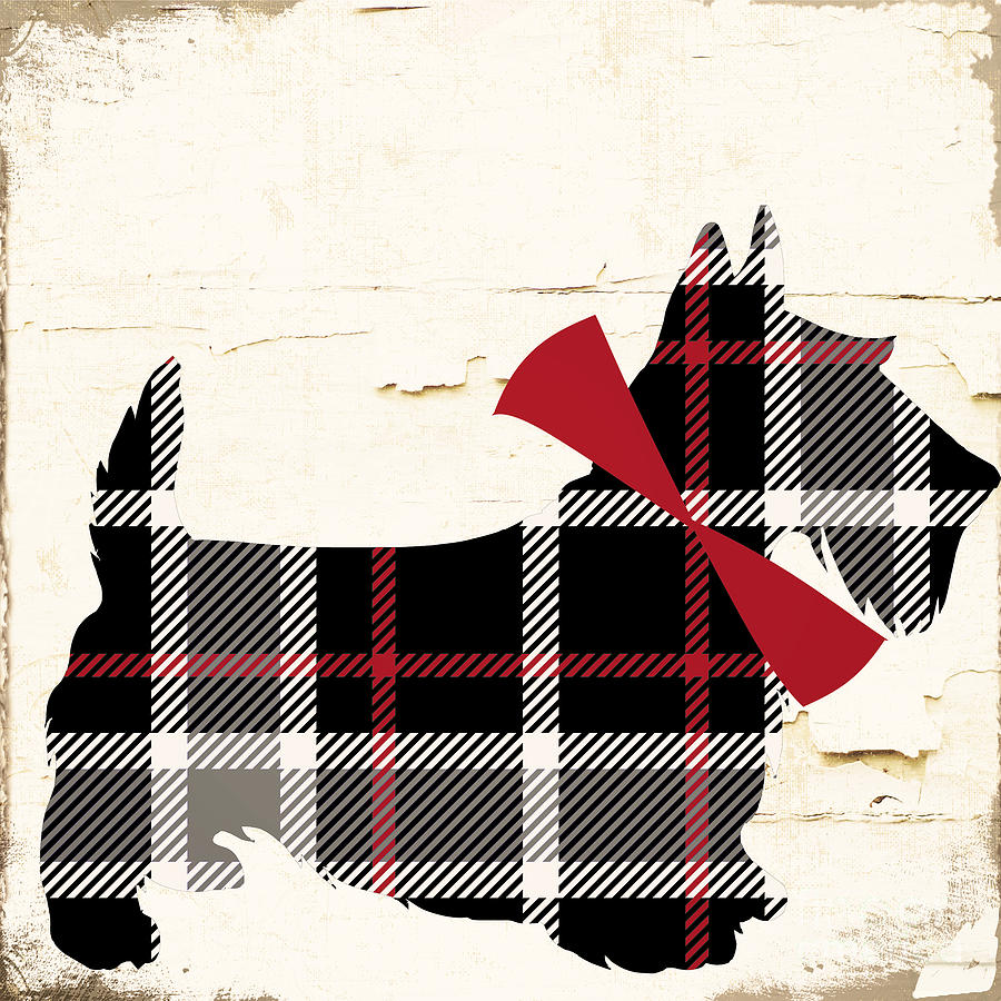 Scottish Terrier Painting - Scottish Terrier Tartan Plaid by Mindy Sommers