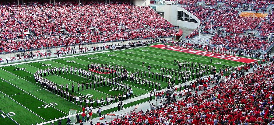 Football Photograph - Script Ohio by Peter  McIntosh