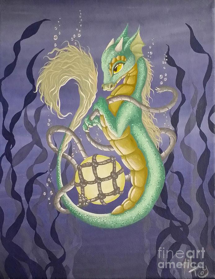 Dragon Painting - Sea Dragon II by Mary Hoy