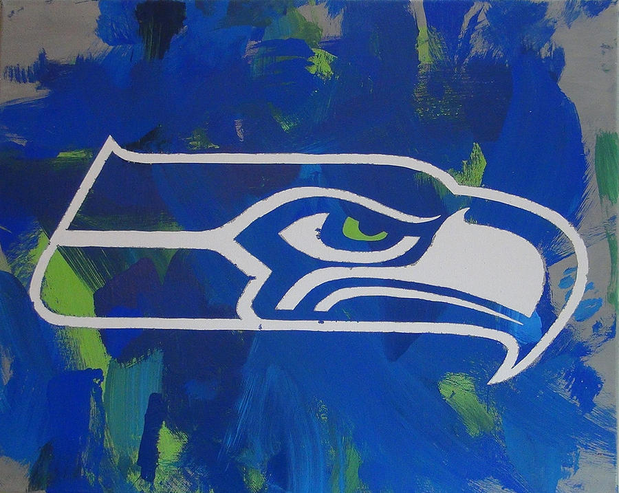 Seahawks Painting Painting - Seahawks Fan by Candace Shrope