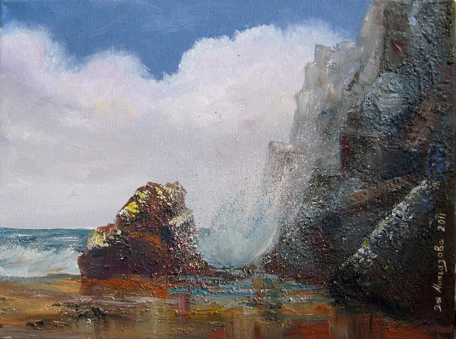 Waves Painting - Seascape by Eleonora Mingazova