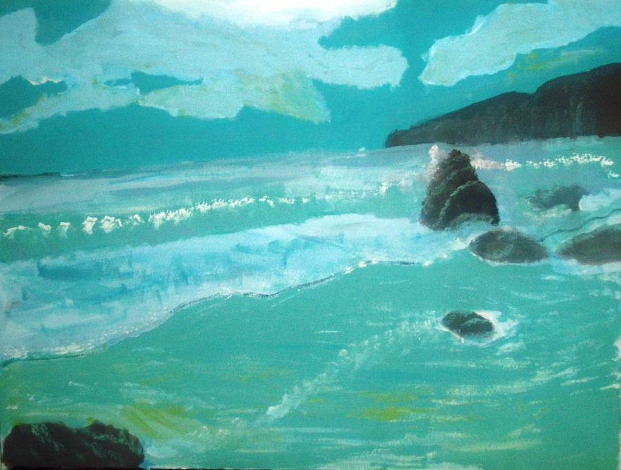 Seascape Painting - Seascape by Hannah Walton