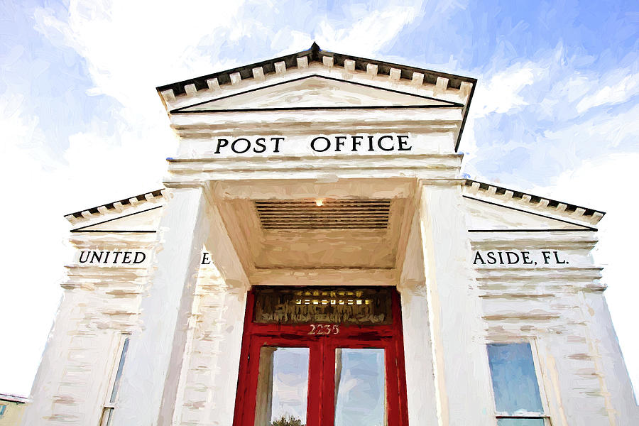 Post Office Photograph - Seaside Post Office by Scott Pellegrin