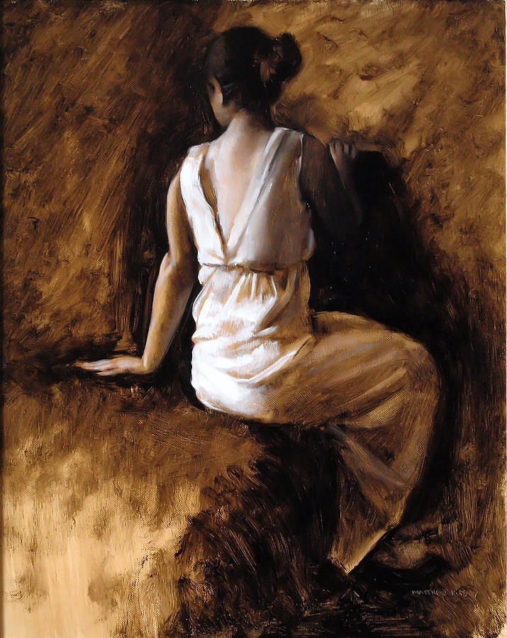 Figure Painting - Seated Figure by Matthew Kinsey