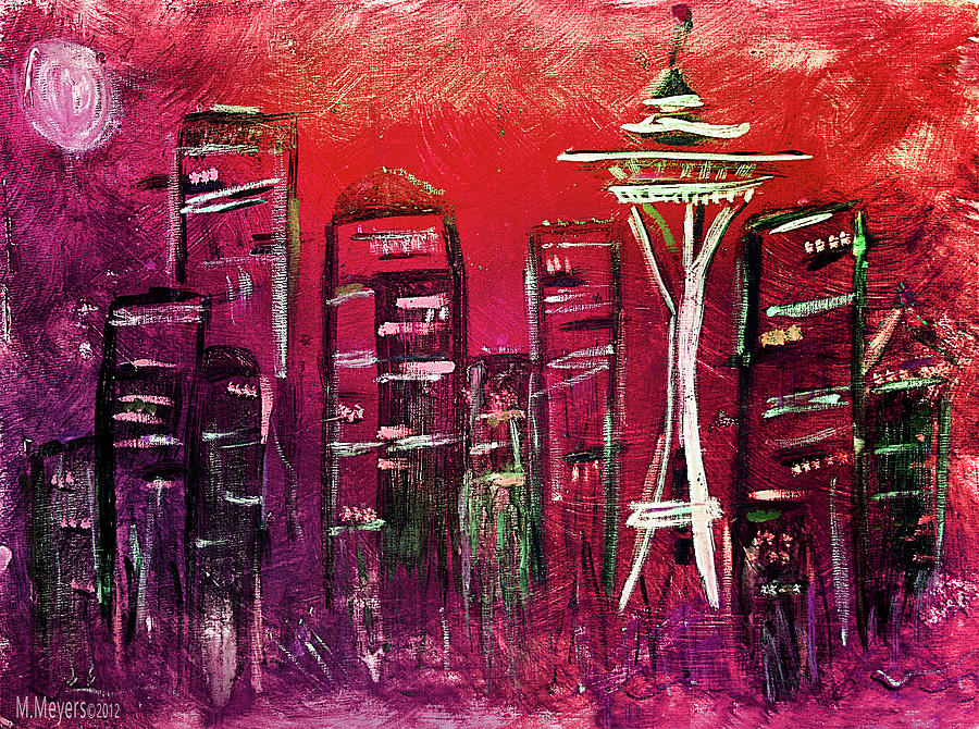 Seattle Painting - Seattle Skyline by Melisa Meyers