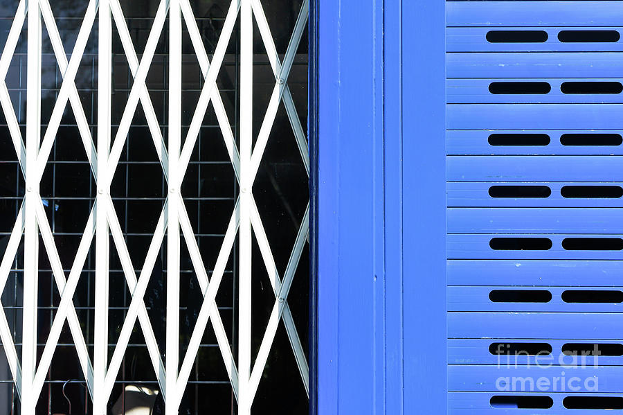 Abstract Photograph - Security Bars 1 by Tom Gowanlock
