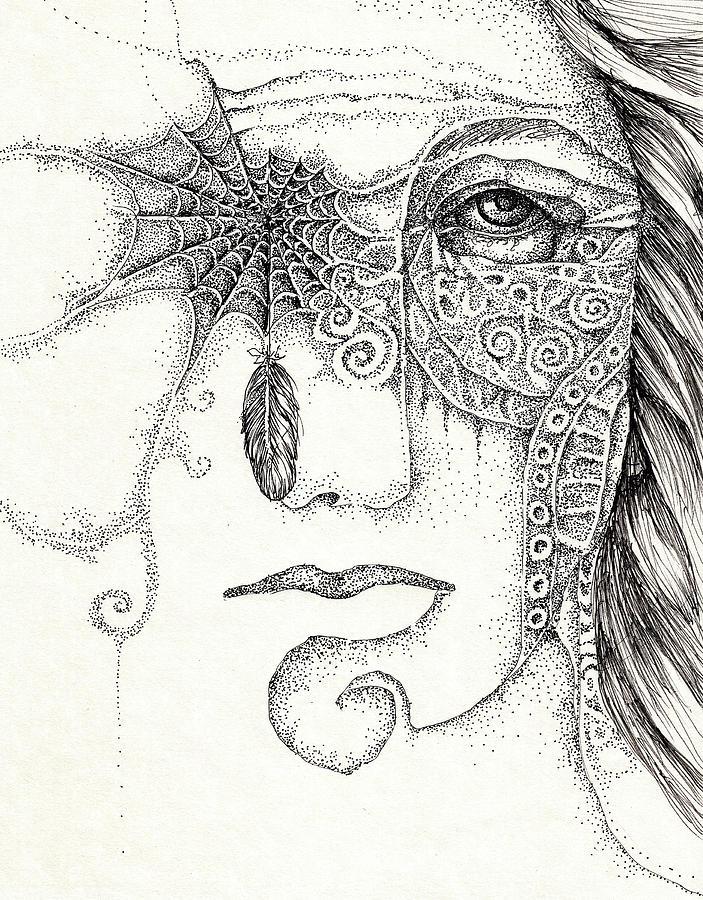 See No Evil Drawing by Cora Marshall