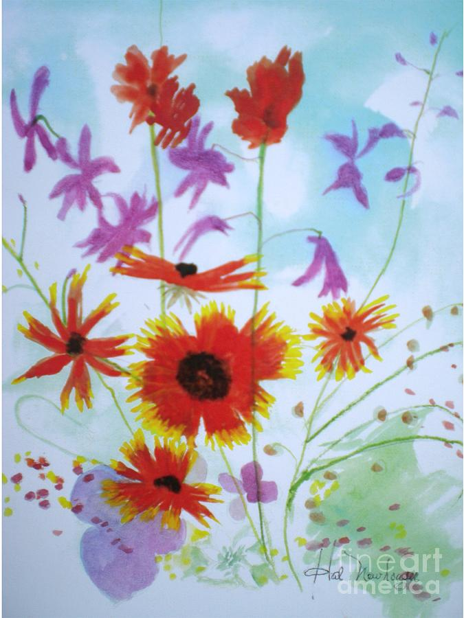 Wild Painting - Selected Wild Flowers by Hal Newhouser