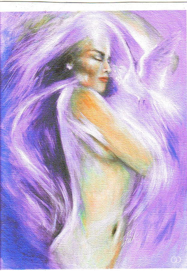 Spirit Painting - Self Love by Elizabeth Silk